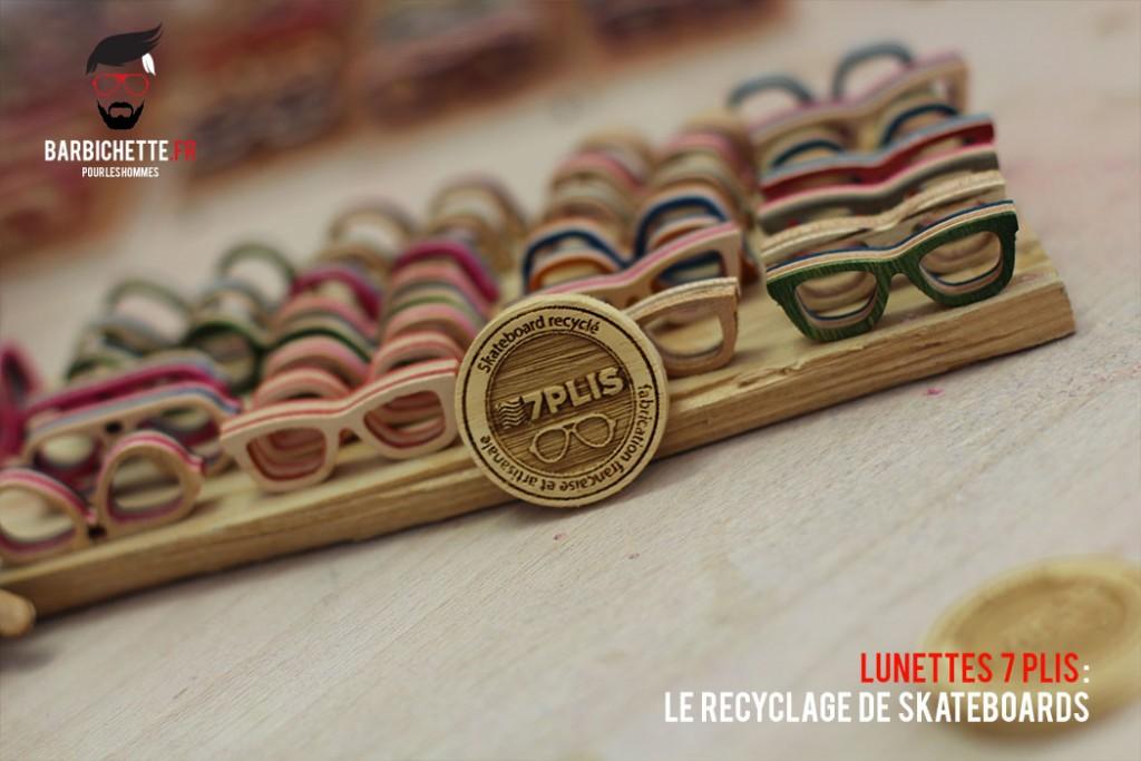 7Plis - Porte clés en bois de skate recyclé