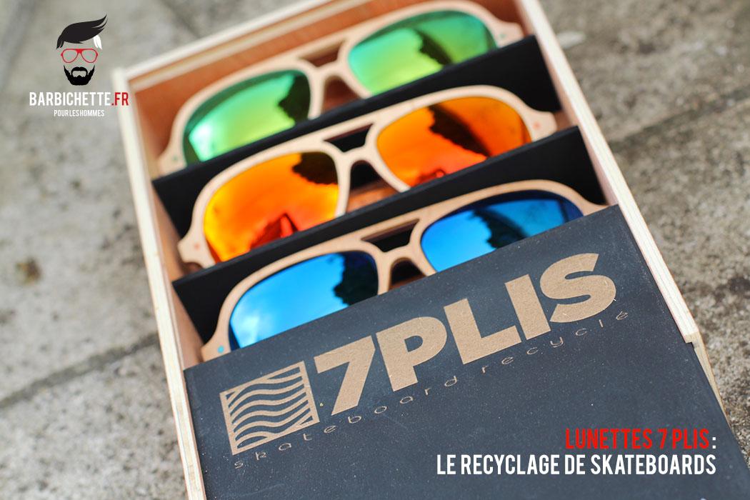 7Plis : Lunettes en planches de skate recyclées