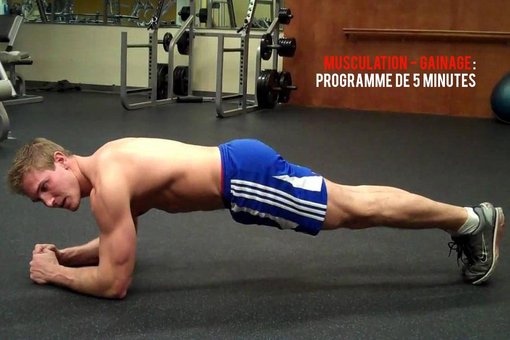 Gainage abdos : programme d'exercices