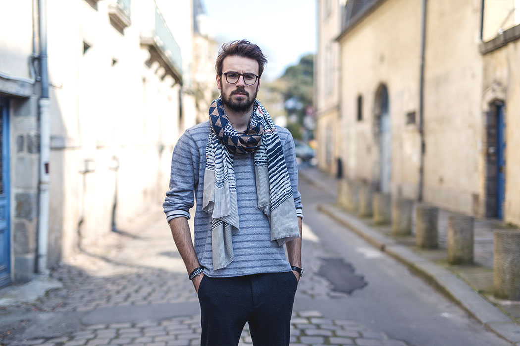 Look 11 : Foulard Monsieur Charli