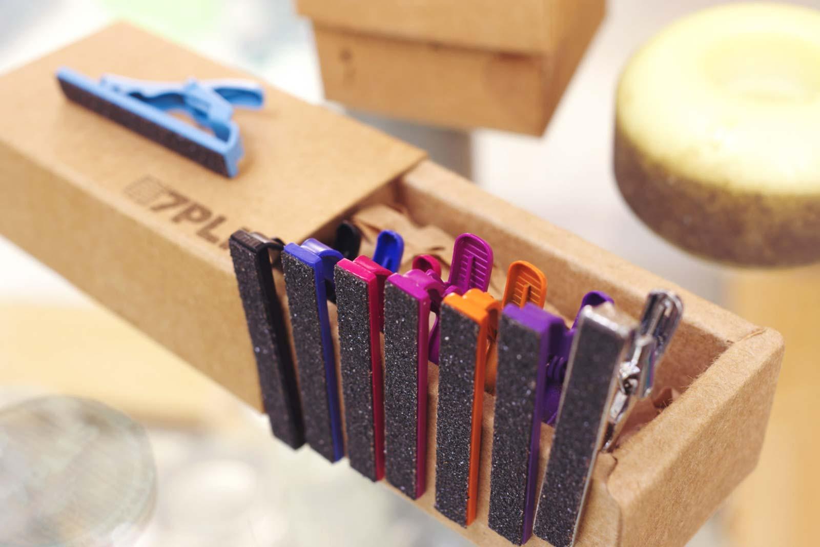 7Plis - Pince à cravate en bois